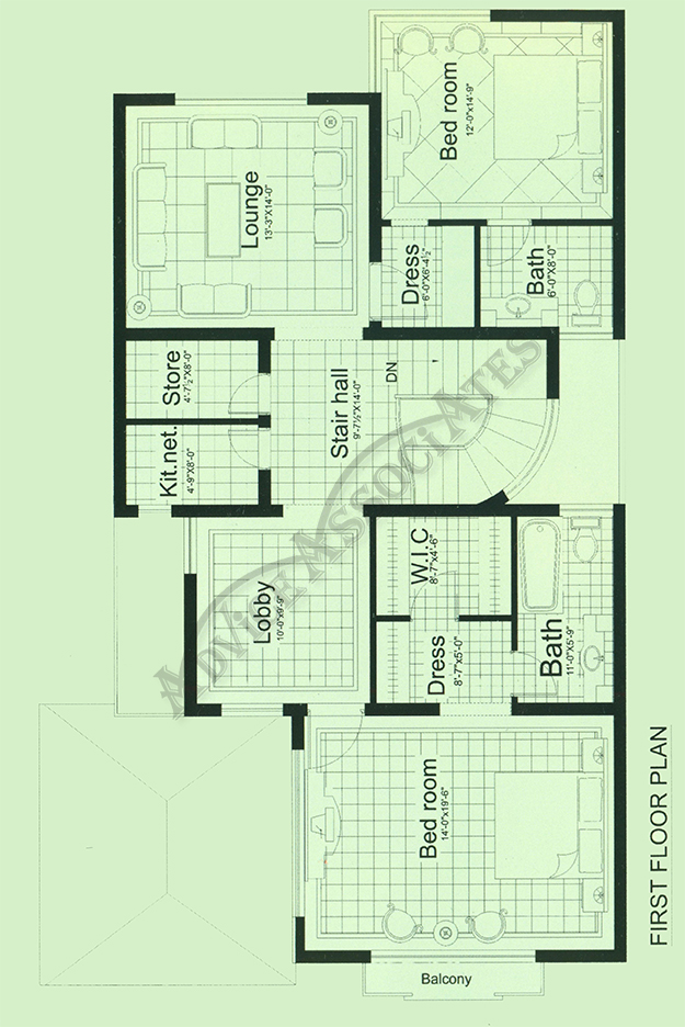 Bahria Enclve 10 Marla 3 Bed House Design Bds 203