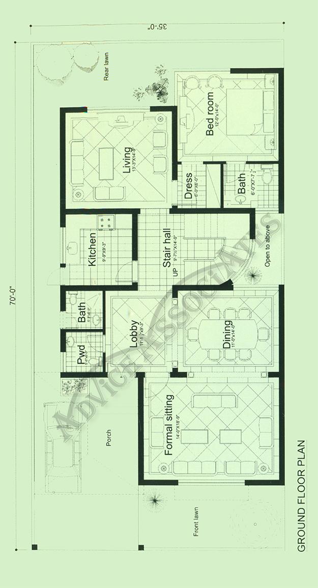 Bahria Enclve 10 Marla 3 Bed House Design Bds 203