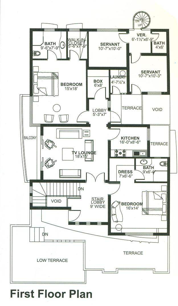 bahria enclave house 1 kanal 5 bed design bds 090
