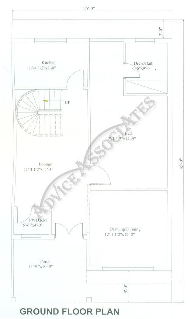 Bahria Enclave 5 Marla 3 Bed House Design Bds 259
