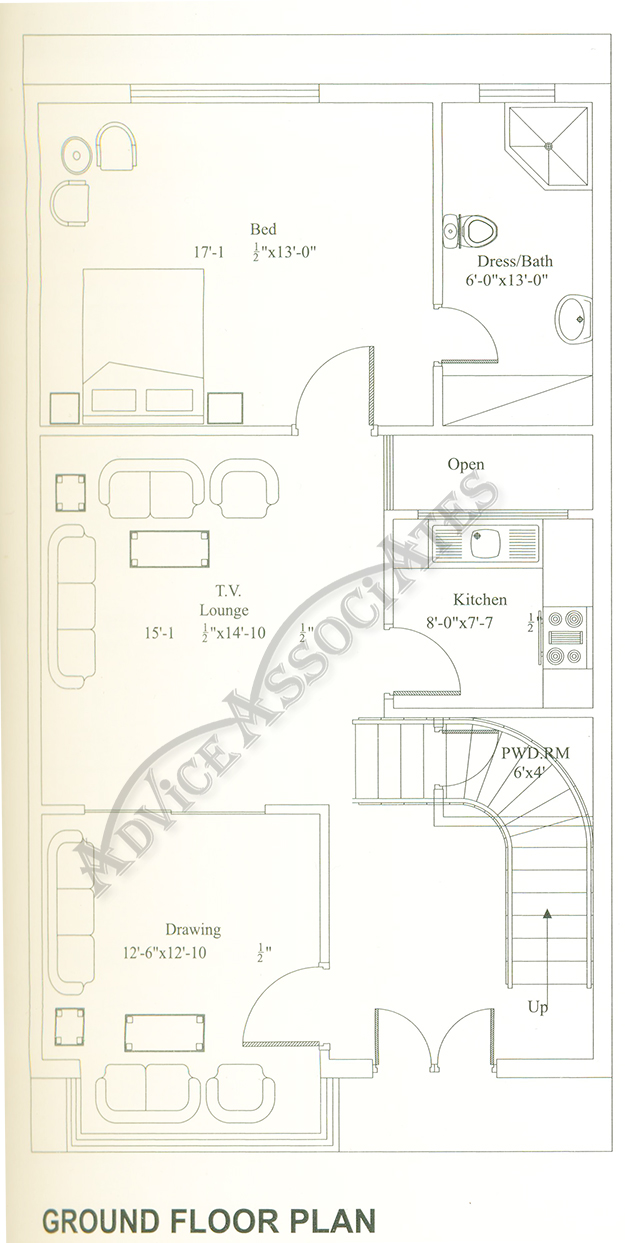 Bahria Enclave 5 Marla 3 Bed House Design Bds 268