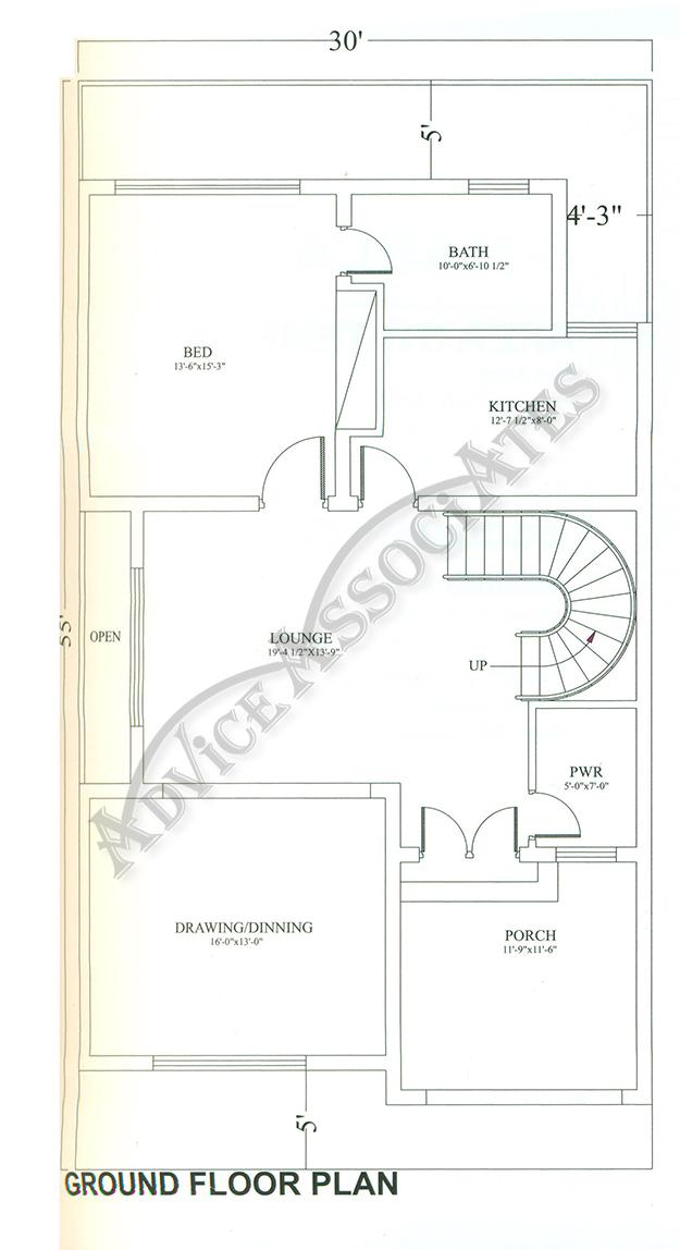 Bahria Enclave 8 Marla 3 Bed House Design Bds 278